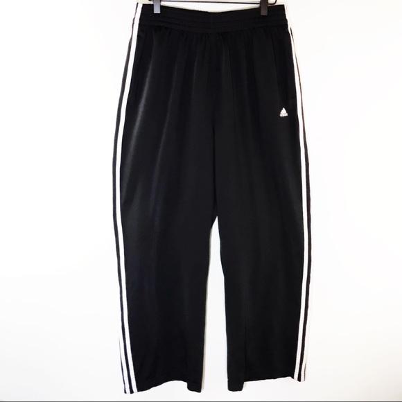 97db02dda1a8f Adidas Black Track Pants Joggers 3 Stripes Size XL